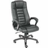 TecTake 400585 Chefsessel Bürostuhl mit sehr hochwertiger Polsterung, schwarz - 1