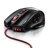 Titanwolf - 16400 dpi USB Laser Gaming Mouse - 18 Tasten - 16400 dpi Abtastrate - High Precision - konfigurierbare LED-Farb-Beleuchtung - Avago Sensor Technology - MMO Gaming - inkl. software programmierbare Tasten - bis zu 30G Beschleunigung - ergonomisches Design - 1