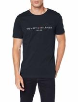 Tommy Hilfiger Herren Tommy Flag Hilfiger Tee Sporttop, Blau (Sky Captain 403), Large (Herstellergröße:L) - 1