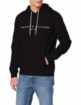 Tommy Hilfiger Herren TOMMY LOGO HOODY Sweatshirt, Schwarz (Jet Black Base), Large (Herstellergröße: L) - 1