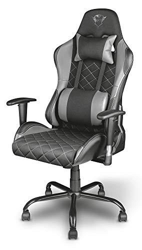 Trust Gaming GXT 707G Resto Gaming Stuhl Bürostuhl (Ergonomisch mit Höhenverstellbare Armlehnen) Grau - 2