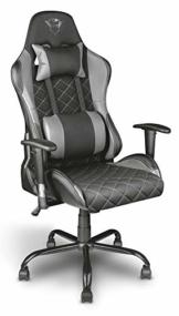 Trust Gaming GXT 707G Resto Gaming Stuhl Bürostuhl (Ergonomisch mit Höhenverstellbare Armlehnen) Grau - 1