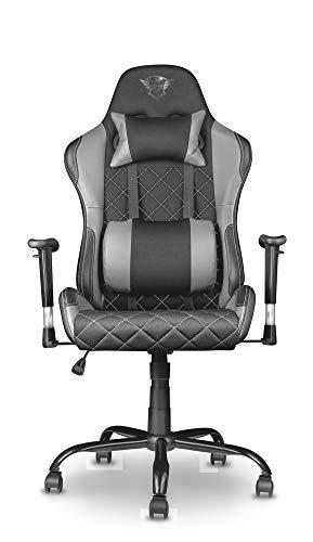 Trust Gaming GXT 707G Resto Gaming Stuhl Bürostuhl (Ergonomisch mit Höhenverstellbare Armlehnen) Grau - 6
