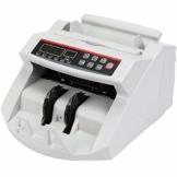 VEVOR FJ0288 Geldzählmaschine Weiß mit Echtheitprüfung Banknotenzähler 1000 Stück/min mit UV- und MG-Systeme 7 kg Geldscheinzähler mit LED Bildschirm für Euro Dollar Pfund (26 x 23,5 x 17 cm) - 1