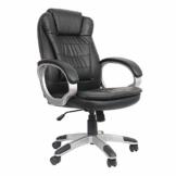 VOSSBACH Bürostuhl Schreibtischstuhl Kunstleder Chefsessel Drehstuhl Höhenverstellbar Büro Gaming Stuhl Schwarz Schreibtisch Sessel 150kg - 1