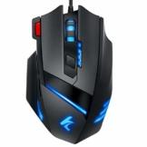 Wired Gaming Maus LED Mäuse - PC Gaming Mouse Hohe Präzision mit 7 programmierbaren Tasten, RGB Ergonomisches Professionelle Optische USB Maus Für Laptop PC Mac Computer Mice(Schwarz) - 1