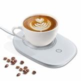 Womdee Tassenwärmer Getränkewärmer, Elektrische Tassenwärmer Pad Mit Automatischem EIN/Ausschalten, Konstante Temperatur 55°C/131°F, Sichere Verwendung für Büro/Haushalt zum Erwärmen von Kaffee Tee - 1