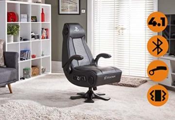 X Rocker Sony Infiniti Gaming Stuhl mit 4.1 Wireless Audio System und Subwoofer-Schwarz, Kunstleder, Normal - 3