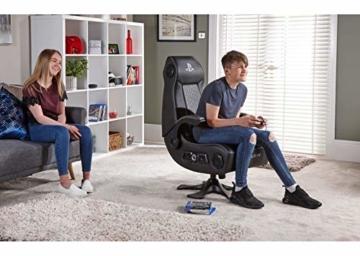 X Rocker Sony Infiniti Gaming Stuhl mit 4.1 Wireless Audio System und Subwoofer-Schwarz, Kunstleder, Normal - 4