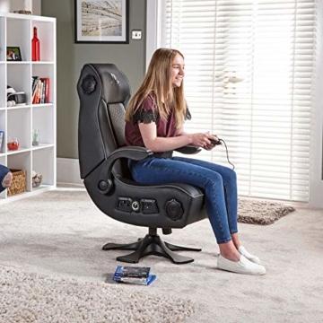 X Rocker Sony Infiniti Gaming Stuhl mit 4.1 Wireless Audio System und Subwoofer-Schwarz, Kunstleder, Normal - 6