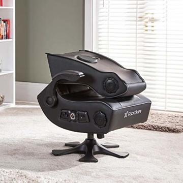 X Rocker Sony Infiniti Gaming Stuhl mit 4.1 Wireless Audio System und Subwoofer-Schwarz, Kunstleder, Normal - 8
