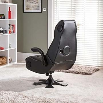 X Rocker Sony Infiniti Gaming Stuhl mit 4.1 Wireless Audio System und Subwoofer-Schwarz, Kunstleder, Normal - 9