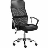 Yaheetech Bürostuhl, Schreibtischstuhl Chefsessel, ergonomischer Computerstuhl, 360° Drehstuhl, mit Kopfstütze, Netzrückenlehne, für's Büro oder Home-Office - 1