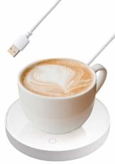 Zhangpu Tassenwärmer Getränkewärmer Pad, Kaffeewärmer, USB Getränkewärmer, intelligenter Berührungsschalterwärmer, tragbares, automatisches Ausschalten des Desktop-Getränkewärmer Heizpads,Weiß - 1