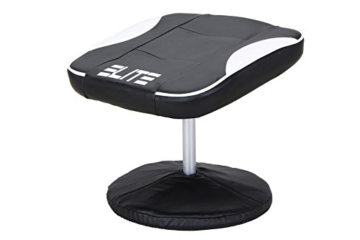 Elite Deluxe Gaming Sessel MG-300 - Bürostuhl - Gamingstuhl - Streamingstuhl - Drehstuhl - Ergonomisch - Racingoptik - Fußhocker - Chefsessel - Racing (Schwarz/Weiß) - 4