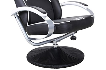Elite Deluxe Gaming Sessel MG-300 - Bürostuhl - Gamingstuhl - Streamingstuhl - Drehstuhl - Ergonomisch - Racingoptik - Fußhocker - Chefsessel - Racing (Schwarz/Weiß) - 6