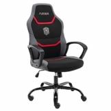 Gaming Stuhl Bürostuhl Ergonomischer Drehstuhl Schreibtischstuhl mit Eingebauter Lendenstütze und Drehbaren Lenkrollen Computerstuhl Rot - 1