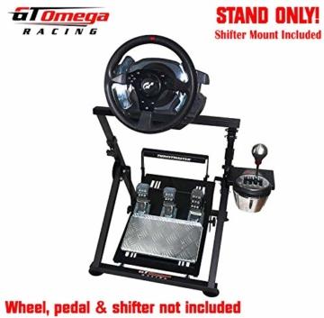 GT Omega APEX Lenkradständer für Logitech Fanatec Clubsport Thrustmaster Gaming Rad pedale & Schalthebelhalterung, TX T500 T300 G923 G29 G920 PS4 Xbox, neigungsverstellbar für Racing-Konsole - 2