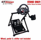 GT Omega APEX Lenkradständer für Logitech Fanatec Clubsport Thrustmaster Gaming Rad pedale & Schalthebelhalterung, TX T500 T300 G923 G29 G920 PS4 Xbox, neigungsverstellbar für Racing-Konsole - 1