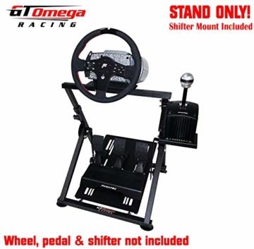 GT Omega APEX Lenkradständer für Logitech Fanatec Clubsport Thrustmaster Gaming Rad pedale & Schalthebelhalterung, TX T500 T300 G923 G29 G920 PS4 Xbox, neigungsverstellbar für Racing-Konsole - 3