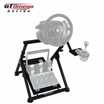 GT Omega APEX Lenkradständer für Logitech Fanatec Clubsport Thrustmaster Gaming Rad pedale & Schalthebelhalterung, TX T500 T300 G923 G29 G920 PS4 Xbox, neigungsverstellbar für Racing-Konsole - 8