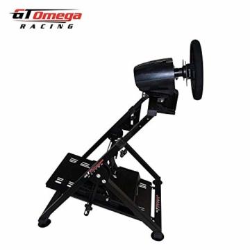 GT Omega APEX Lenkradständer für Logitech Fanatec Clubsport Thrustmaster Gaming Rad pedale & Schalthebelhalterung, TX T500 T300 G923 G29 G920 PS4 Xbox, neigungsverstellbar für Racing-Konsole - 9