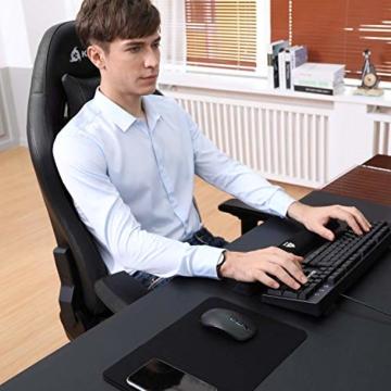 KLIM Esports Gaming Stuhl + Mit Lenden- und Nackenstütze + Verstellbar Gaming Sessel + Ergonomisch PC Stuhl + Kunstleder und Premium-Materialien + Schwarz Gamer Stuhl 2021 Version Gaming Chair - 7