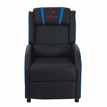 Mendler Fernsehsessel HWC-D68, HWC-Racer Relaxsessel TV-Sessel Gaming-Sessel, Kunstleder - schwarz/blau - 3