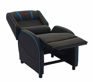 Mendler Fernsehsessel HWC-D68, HWC-Racer Relaxsessel TV-Sessel Gaming-Sessel, Kunstleder - schwarz/blau - 4