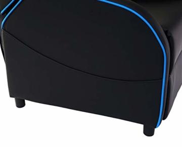 Mendler Fernsehsessel HWC-D68, HWC-Racer Relaxsessel TV-Sessel Gaming-Sessel, Kunstleder - schwarz/blau - 6