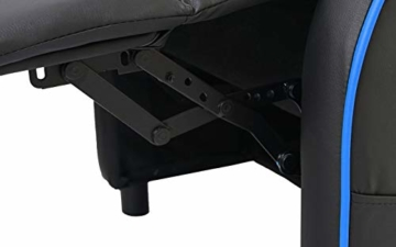 Mendler Fernsehsessel HWC-D68, HWC-Racer Relaxsessel TV-Sessel Gaming-Sessel, Kunstleder - schwarz/blau - 9