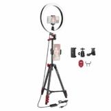 Neewer 12 Zoll LED Ringlicht Selfie-Ringlicht mit Stativständer und Telefonhalter 3 Lichtmodi Dimmbares Ringlicht mit 54-Zoll Stativ für Live-Streaming/YouTube/TikTok/Vlog-Video - 1
