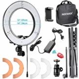 Neewer 14 Zoll 36cm 32W 5500K LED-Ringlicht Kit mit Licht Ständer + Soft Tube + 2 Farbfilter + Blitzschuh Adapter + Bluetooth-Empfänger für Smartphone Porträt YouTube Video Selfie-Licht - 1