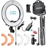 Neewer 14 Zoll großer LED-Lichtring mit Light Ständer + flexiblem Arm + 2 Farbfiltern + Hotshoe Adapter + Bluetooth Empfänger für Smartphone YouTube TikTok Selfie 36W 5500K - 1