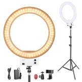 Neewer 18 Zoll weißes LED Ringlicht mit Lichtstativ Set dimmbar 50W 32000-5600K,Blitzschuh Adapter,Handy Halter für Make up,Kamera/Smartphone YouTube Video Aufnahmen Item Title - 1