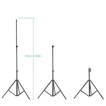 Neewer 190cm Beleuchtung Unterstützung Fotografie für Reflektor, Softbox, Licht, Regenschirm und Hintergrund - 4