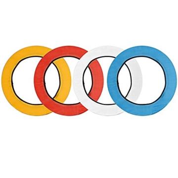 Neewer 4-Farb Faltbare bewegliche Video Ring Licht Softbox Diffusor Tuch Set für Neewer 18 Zoll 75W Ring Licht und 55W LED Ring Licht, Hohe Lichtübertragung Material (rot, gelb, weiß, blau) - 1