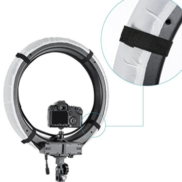 Neewer 4-Farb Faltbare bewegliche Video Ring Licht Softbox Diffusor Tuch Set für Neewer 18 Zoll 75W Ring Licht und 55W LED Ring Licht, Hohe Lichtübertragung Material (rot, gelb, weiß, blau) - 6