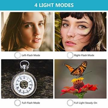 Neewer 48 Makro LED Ringblitzleuchte Set für Canon/Nikon/Panasonic/Olympus/Pentax SLR Kamera (Makro Ring Kopf, Leistungsregler mit LCD Anzeige, 4X Blitz-Diffusor, 8X Adapterring) - 4