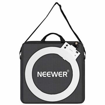 Neewer Fotografie Tragetasche Schutzhülle Kompatibel mit 18 Zoll Kamera Ringlicht - 20,47x20,47 Zoll / 52x52 Zentimeter, robuste Nylon, Leichtgewicht (schwarz) - 6