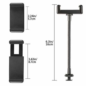 Neewer Ring Licht weiche Röhre und Handy-Halter Set für Ring Licht mit Standard-Kaltschuh, kompatibel mit iPhone X / 8 Plus / 8/7 Plus / 7/6 plus / 6/5, Samsung, Huawei und anderen Android Smartphones - 4