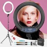 Neewer RL 18II Zweifarbiges 18 Zoll LED Ringlicht mit Ständer 55W Dimmbares Licht mit max. 61,8 Zoll Ständer und Tragetasche für Live Stream Make-Up Selfie YouTube Videoaufnahmen - 1