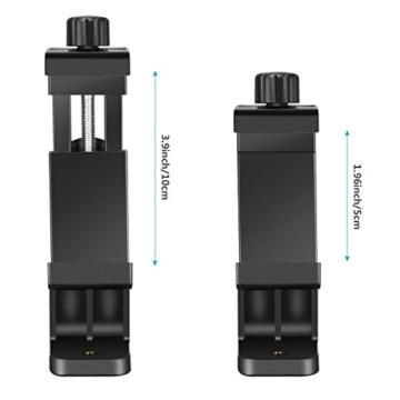 Neewer Smartphone Halter Klemme Tischstativ Halterung mit Mini Kugelkopf Blitzschuh Adapter für 14-18 Zoll Ringlicht wie iPhone Samsung Huawei Smartphone von 1,9-3,9 Zoll Breite - 7