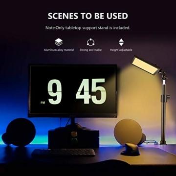 Neewer Tisch Licht Klammerständer mit 1/4-Zoll Schraube für LED-Videolicht und Ringlicht einstellbar 32-52cm Aluminiumlegierung für Live-Streaming Beleuchtung Foto Video Aufnahme - 6