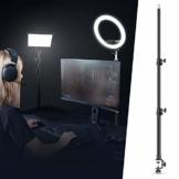 Neewer Tisch Lichtstativ Stativklammer mit 1/4 Zoll Schraube für Ringlicht und LED Licht, Aluminiumlegierung, 5kg Tragfähigkeit, einstellbar 55-120cm für Live-Streaming, Videoaufnahmen - 1