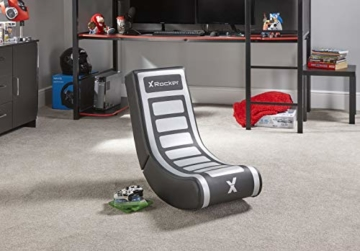 X Rocker Video Rocker V2 - Floor Rocker Gaming Stuhl - Schwarz/Grau - 6