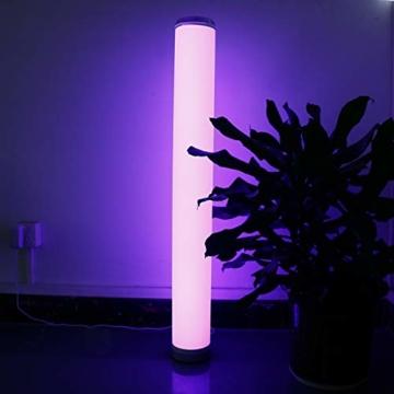 LED Stehlampe Dimmbar mit Fernbedienung für Wohnzimmer Farbwechsel Lichtsaeule LED RGB Stehleuchte Gaming Deko, 5 Watt, 54CM Höhe - 2