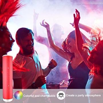 LED Stehlampe Dimmbar mit Fernbedienung für Wohnzimmer Farbwechsel Lichtsaeule LED RGB Stehleuchte Gaming Deko, 5 Watt, 54CM Höhe - 3