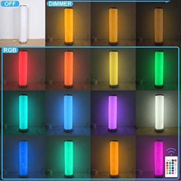 LED Stehlampe Dimmbar mit Fernbedienung für Wohnzimmer Farbwechsel Lichtsaeule LED RGB Stehleuchte Gaming Deko, 5 Watt, 54CM Höhe - 4
