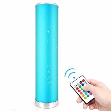 LED Stehlampe Dimmbar mit Fernbedienung für Wohnzimmer Farbwechsel Lichtsaeule LED RGB Stehleuchte Gaming Deko, 5 Watt, 54CM Höhe - 1